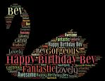Happy Birthdhay dear Bev by hiaamir