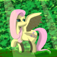 Day 10 - Fluttershy by Silver---Streak