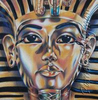 King Tut, Detail by LightCircleArt