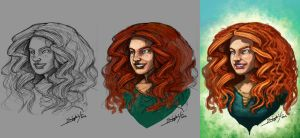 Merida the Brave WiP by xashe