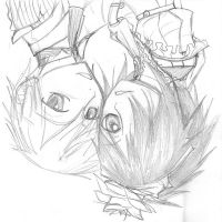 alice and leo pencil sketch by Asparagusunited