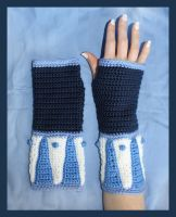 The Legend of Korra Crochet Gloves by sapphiresphinx