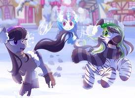 snow days with vinyl and octavia by hyperfreak666