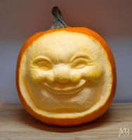 Chuckling Pumpkin by alanbecker