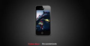Abstract Wave iPhone Wallpaper by TheWonderlands