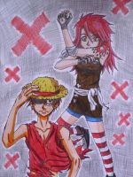 Luffy + Tahia by Koza-Kun