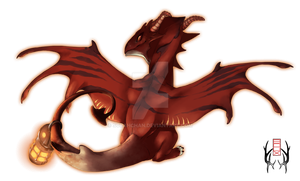 Simple shading Commission - Dragon by SorahChan