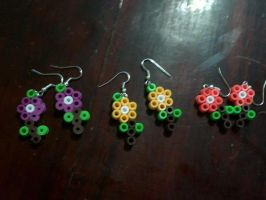 perler beads earrings by kiri-chan1990