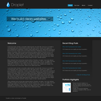 Droplet Web Template by Brukhar