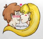 Dipcifica - Flustered Kiss (colored) by kanatakaangel