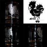 Chocobo Etched Glass Design by Ranefea