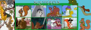 Squirrel Char. Tribute Banner by animagusurreal