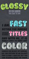 Glossy Text - Photoshop Action by survivorcz
