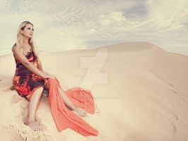 Woman in desert by MotHaiBaPhoto