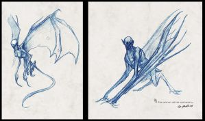 """Harpies"" sketches by JSMarantz"