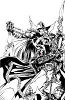 Medieval Spawn And Witchblade by SuibroM