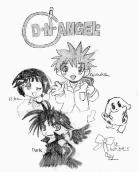 D.N.Angel Chibis by: Narni. by Cartoon-Obsessions