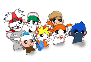 Ape Escape Hamtaro by pikmin789