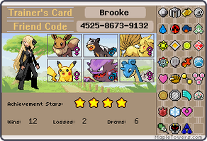 My trainer Card by fireandwaterqueen