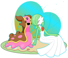Gastrodon and Gardevoir by TeamSunset