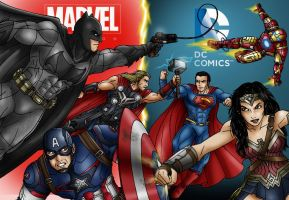 DC Trinity Vs Marvels Big 3 by taresh