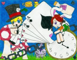 alice and wonderland by Suu-s-c