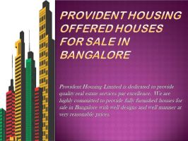 Provident Housing Offered Houses for Sale in Banga by providenthousing