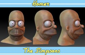 Homer Bust by snakes23