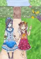 Young Sayuri and Rose by SparrowsLie