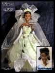 repainted ooak princess tiana doll. by verirrtesIrrlicht
