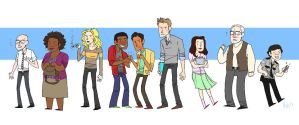 The Greendale Seven (plus two) by IwuvtheOffice