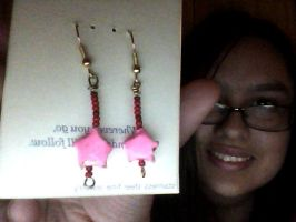 First hand made earrings by Tinkerbell0522