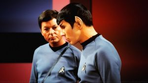 Leonard Nimoy and DeForest Kelley Spock and McCoy by Dave-Daring
