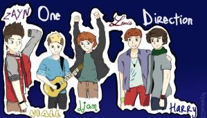 One Direction Band by laura22elle