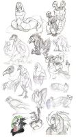 SKETCH DUMP BIRDS AHEAD by TheropodMonster