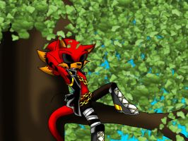 Iblis on a tree 8D by missyDischa