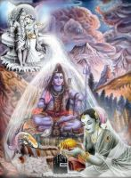 Shiva and Parvati by MystiQueDestiny