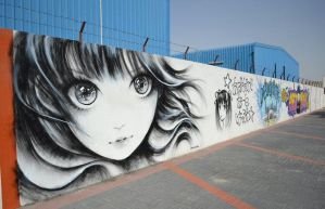 Manga draw on walls by Kamiigusa08