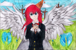 Angel Katheryn Stadlefled (Not my OC) by Devilfire-Dragon