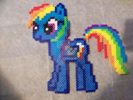 RAINBOW DASH CUSTOM PERLER PONY SPRITE by davidbillups