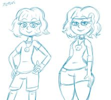 Jackie Before and After by ScoBionicle99