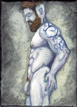 Male Figure with Tattoo by drake22ice