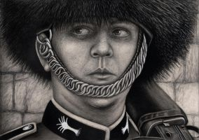 'QUEENS GUARD' graphite drawing by Pen-Tacular-Artist