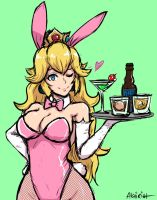 bunny peach by akairiot