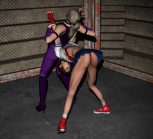 Nina VS Sakura - Arm Lock 2 by FatalHolds