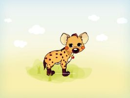 cute hyena by firmacomdesign