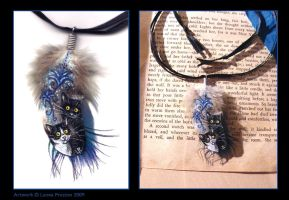 Azure Cats Feather by Leopreston