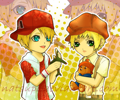 aph- little alfred and arthur by NatsuPi