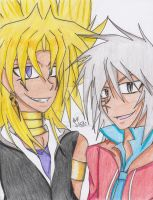 YGO- Yami Marik and Akefia by LeafofDeath
