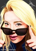 Hyoyeon Digital Painting-I got a boy series 4/4 by BoAism